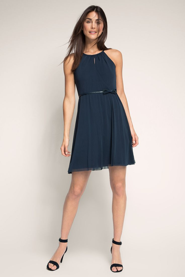 Esprit / Luchtige mesh jurk met riem
