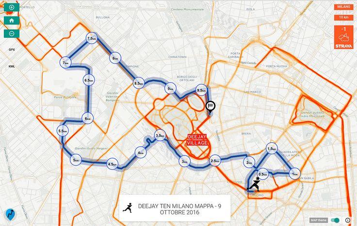 https://flic.kr/p/M3sBGv | DEEJAY TEN MILANO MAPPA - 9 OTTOBRE 2016 | unofficial web map with LeafletJS & Strava tile! map link >> goo.gl/XUxfu5