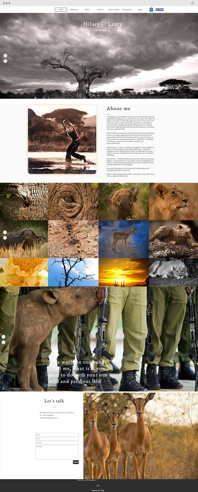 Hilary O'Leary | South Africa Wildlife Photography