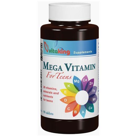 Egy fejlődésben lévő szervezetnek sok vitaminra van szüksége - ebben segít a kifejezetten tinédzserek számára kifejlesztett Mega Vitaminunk!  http://termeszetpatikajaonline.hu/vitaking-mega-vitamin-tiniknek-90x.html