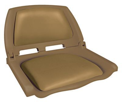 Bass Pro Shops Padded Folding Molded Boat Seat - Brown