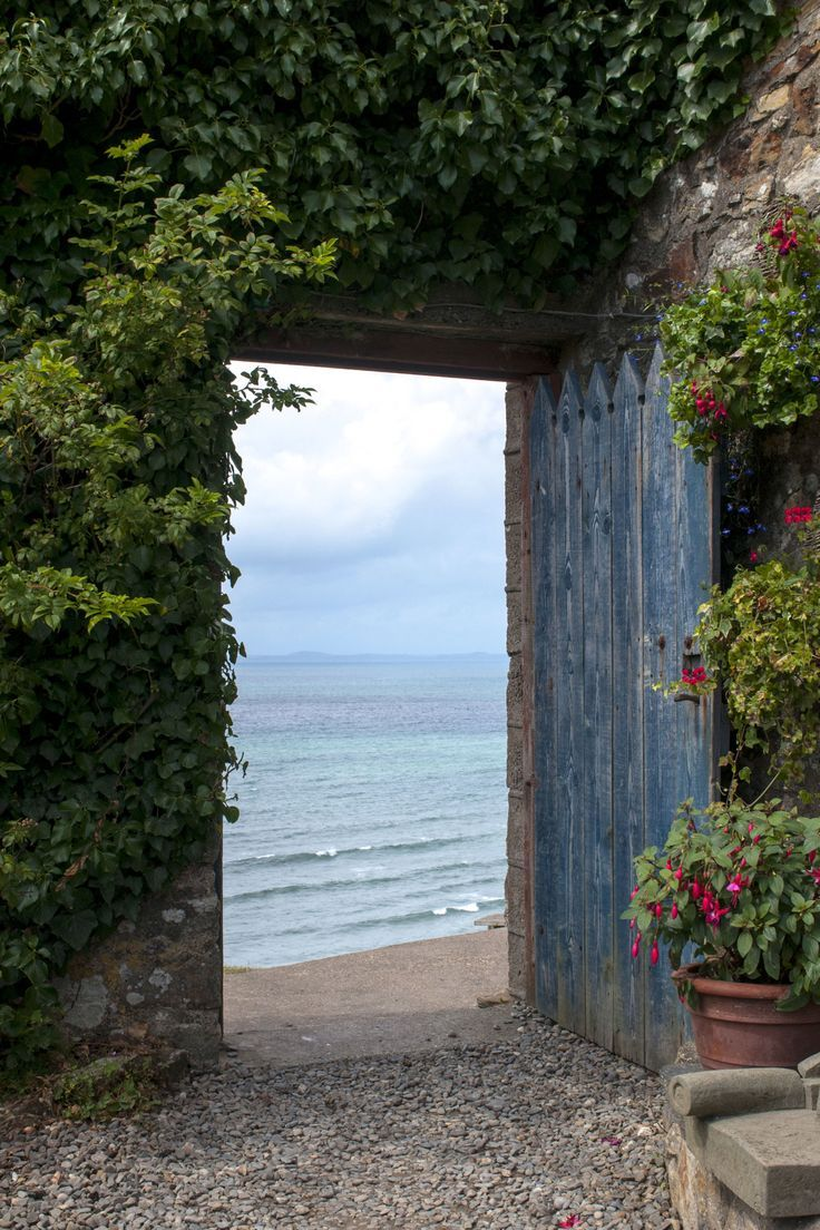 I want this to be the door out to the sea from my cottage garden somewhere on the English coast