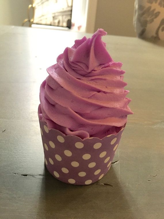 Bubble Bath Bomb Cupcakes Mini Size Gentle on by LavishBathCompany