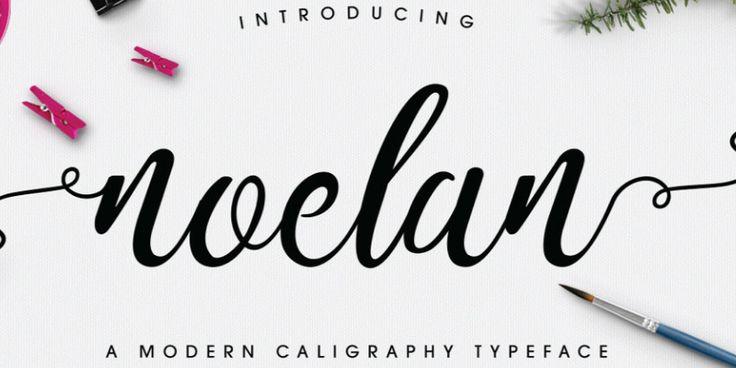 Noelan, una tipografía de caligrafía moderna
