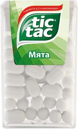 Tic Tac Мята 16 г  — 46р. -------------------------------------- Драже Tic Tac Мята 16 г. Тик Так – это освежающее драже c ярким и бодрящим вкусом в удобной упаковке. Тик Так пришел на российский рынок в 90-ые годы 20 века и по сей день является любимым и хорошо знакомым взрослым и детям продуктом. Дарит заряд свежести и позитивной энергии. Под тонкой ванильной оболочкой скрывается уникальный вкус и источник свежести. Это больше, чем двойной эффект и второе дыхание! Яркое драже Тик Так с…