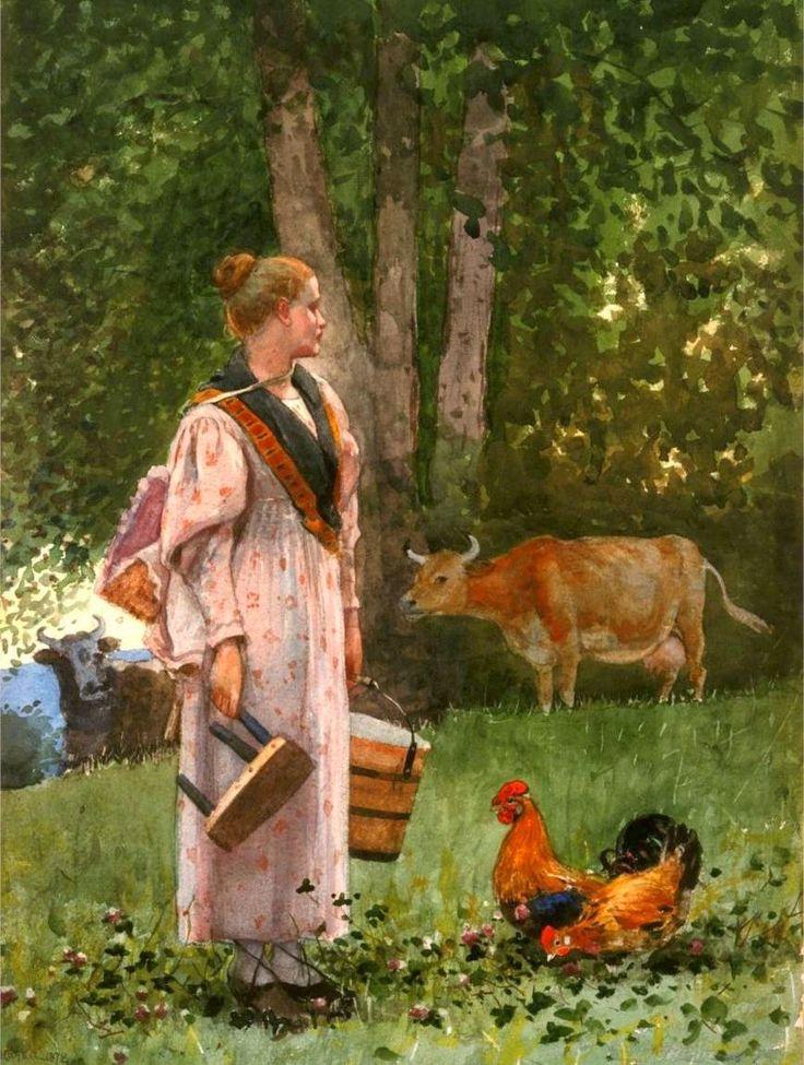 Winslow Homer - Criada de la leche (1878)