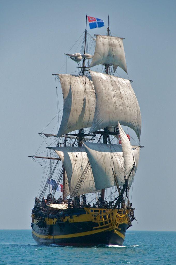 L'Etoile du Roy, frégate 3 mâts, St Malo