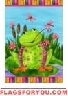 Happy Frog Garden Flag