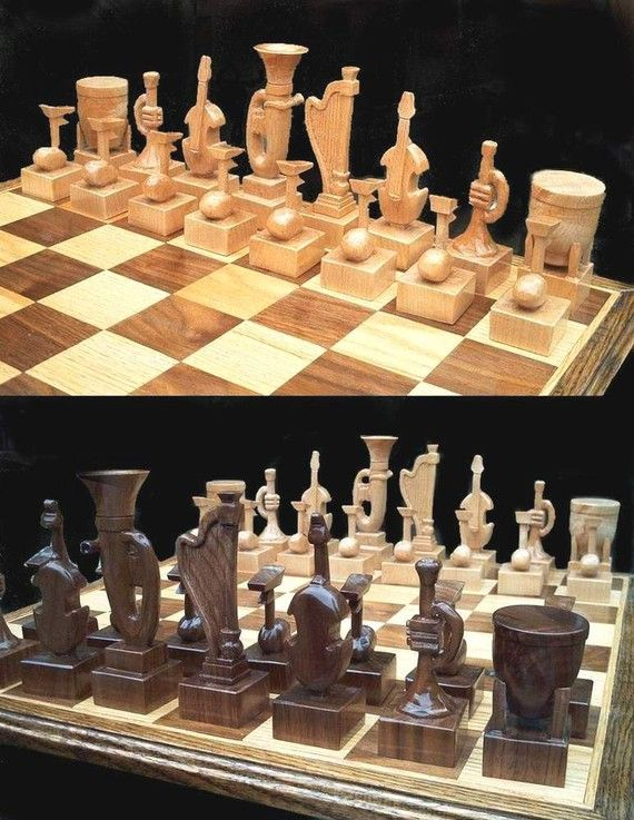 Chess Set Instrumental Chess Set on etsy by JimArnoldsChessSets, $700.00