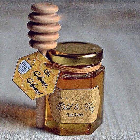 Pot de miel avec louche faveur de mariage x 50 par AlPartyFavours