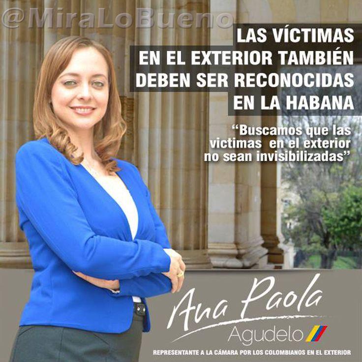 """""""Las víctimas en el exterior también deben ser reconocidas en La Habana"""" @AnaPaolaAgudelo"""