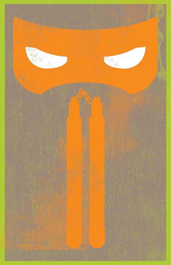 Teenage Mutant Ninja Turtles / Michelangelo on Etsy, $21.00