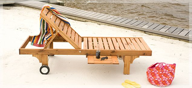 Lowe's DIY Sun Chair - Skill Level: Advanced Sit back, relax, and enjoy a cool drink in style.