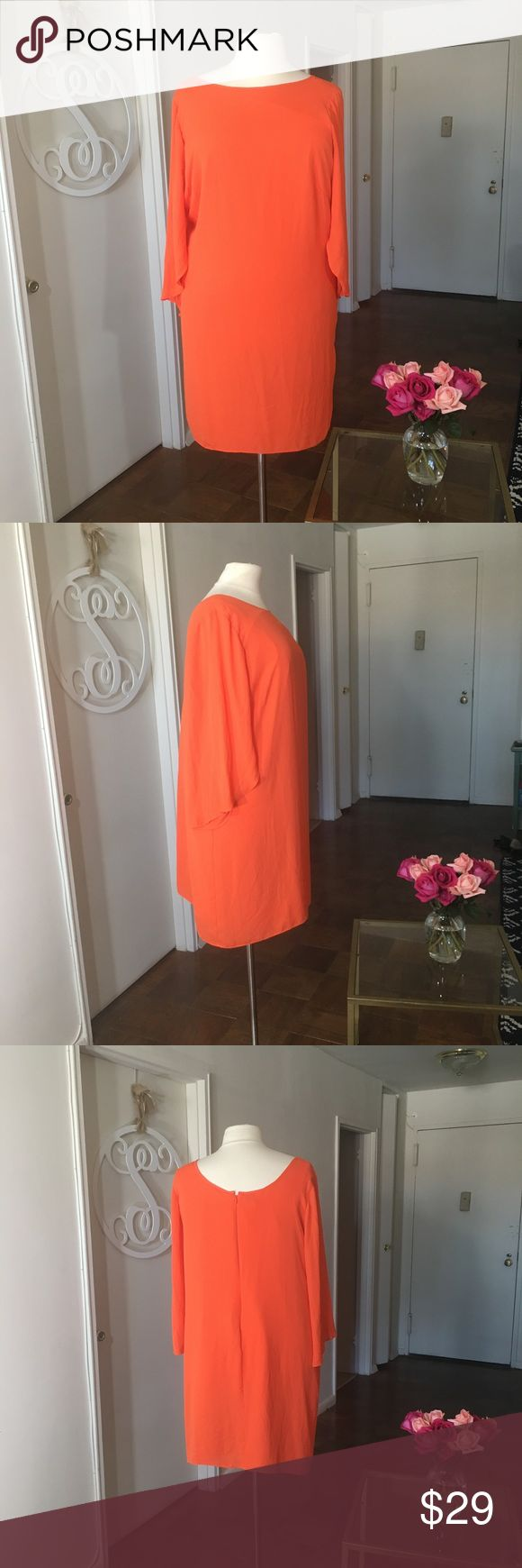 London Times Plus Size Orange Dress Stunning dress. No stretch. Please feel free to ask any questions. Measurements can be provided upon request. London Times Dresses