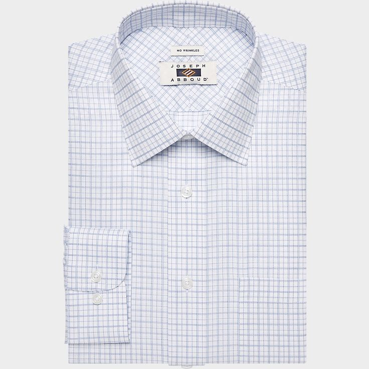 Buy a Joseph Abboud White & Navy Grid Dress Shirt online at Men's Wearhouse. See the latest styles of men's Classic Fit. FREE Shipping on orders $99+.