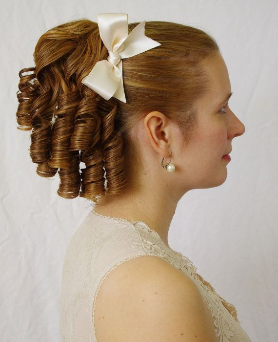 Single Lolita  - romantic Lolita ringlet hairpiece (also suitable for regency , victorian , civil war costumes or wedding)