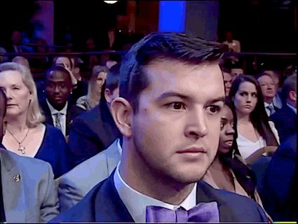 AJ's reaction to winning the Maxwell Award for national college football player of the year