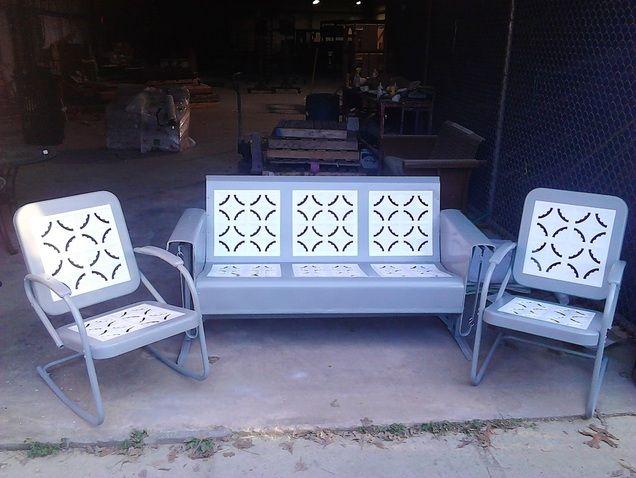Vintage Metal Lawn Chairs >> vintage glider   Gliders   Pinterest   Metals, Vintage and Gliders