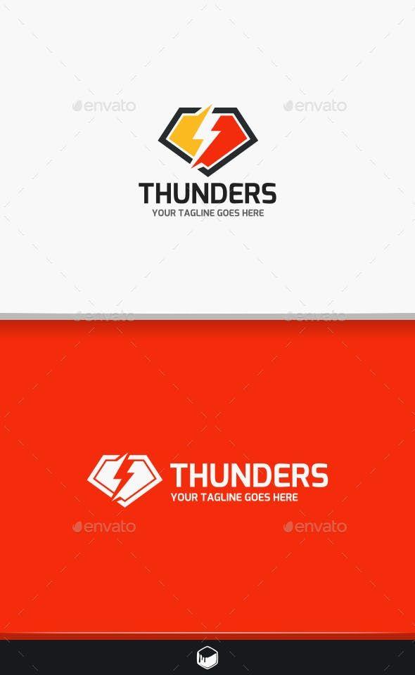 Thunder Lightning Logo Lightning Logo Logo Design Template