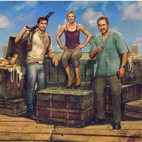 Las 3 Leyendas que nunca se olvidaran Nathan, Sully y Elena