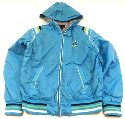 BRUMLA.CZ – Značkový dětský a dospělý second hand a outlet, použité oděvy pro děti a dospělé - Azurová šusťáková jarní bundička s kapucí zn. Next