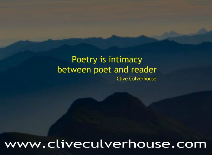 Poems from Clive Culverhouse