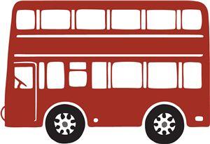 Silhouette Online Store - View Design #30155: double decker bus