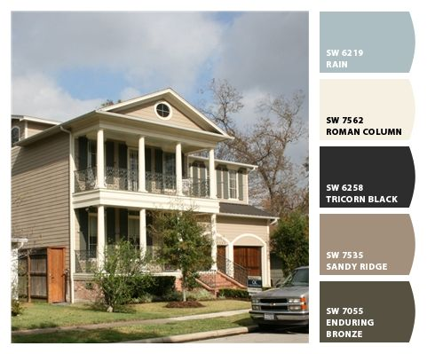 Exterior house atoms ranch exterior painting colors ranch style