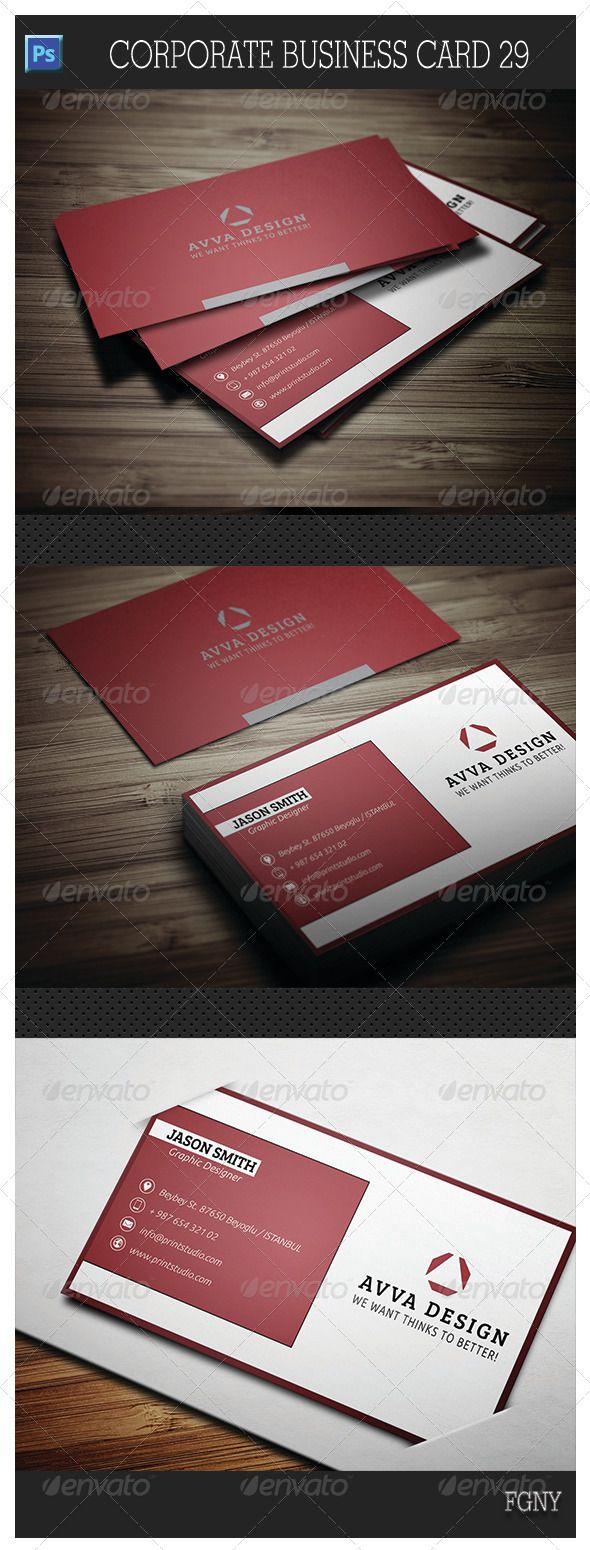 Corporate Business Card 29 - Corporate Business Cards