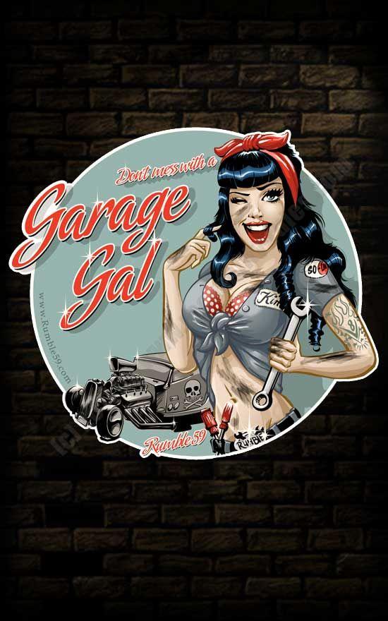 Rumble59 - Sticker Garage Girl                                                                                                                                                     Mehr