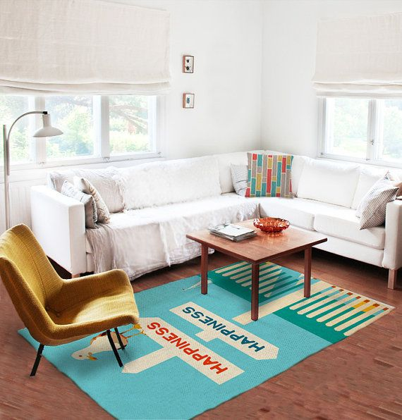 Decorative Rug modern rug beach rug carpet colorful by thegretest
