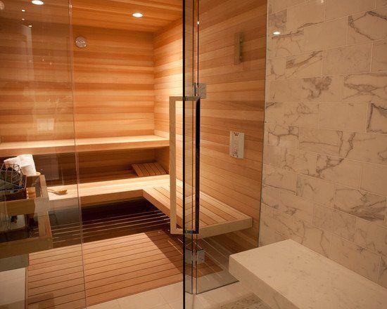 Sauna, Shower and Bath - Beautiful Homes Design