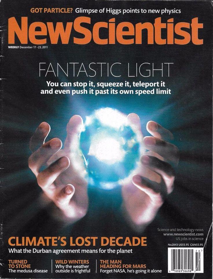 New Scientist magazine Fantastic light Climate lost decade The medusa disease