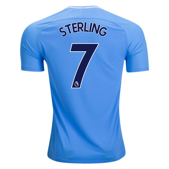 17/18 Nike Raheem Sterling #7 Manchester City Home Jersey