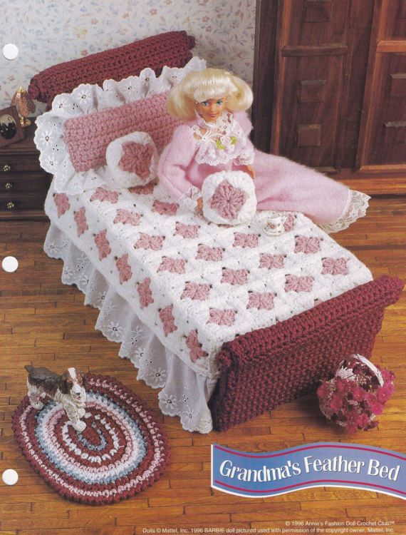 Grandma's Feather Bed, Annie's Attic Crochet Doll Clothes Pattern Leaflet FC13-03
