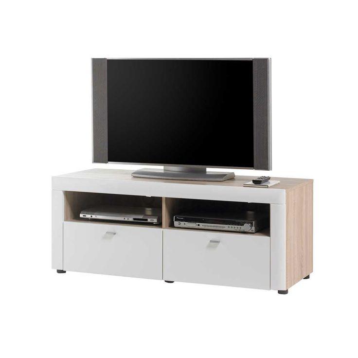 TV Board in Sonoma Eiche Hochglanz Weiß Jetzt bestellen unter: https://moebel.ladendirekt.de/wohnzimmer/tv-hifi-moebel/tv-lowboards/?uid=e1a9eb49-d353-5baf-bdad-73920e48e658&utm_source=pinterest&utm_medium=pin&utm_campaign=boards #fernsehboard #fernsehmöbel #rack #phonoschrank #tvboard #fernsehunterschrank #tische #tvhifimoebel #lowboard #fernsehtisch #unterschrank #möbel #phonomöbel #bank #fernseher #tvtische #fernseh #sideboard #tvlowboards #wohnzimmer #kommode #board