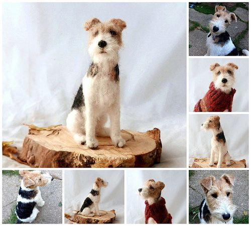 felted wire fox terrier | Flickr - Photo Sharing!