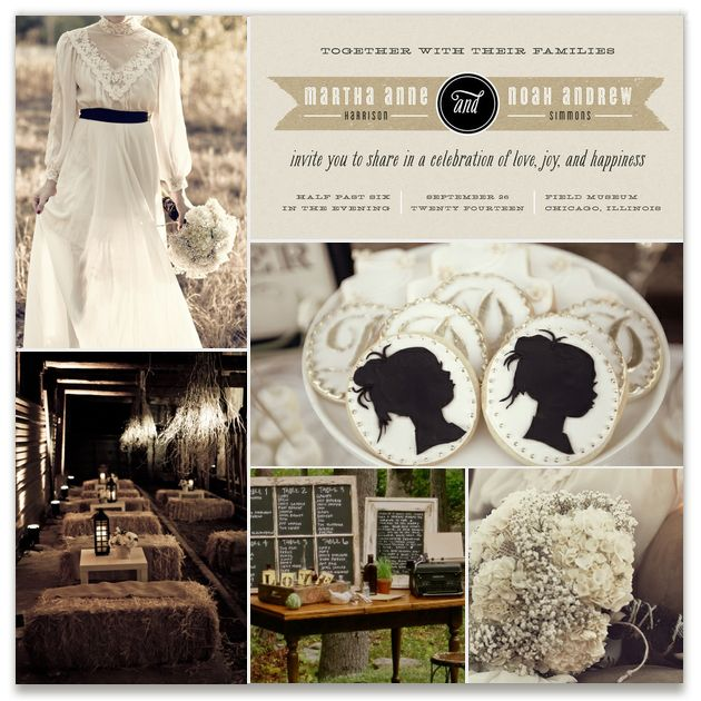 Rustic Victorian Inspiration Board, curated by lehan paper at Minted