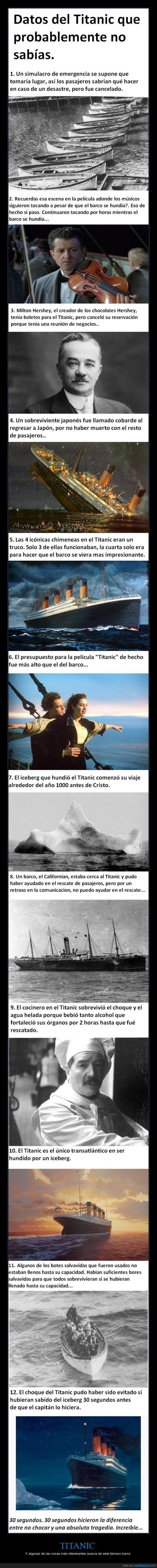 Curiosidades del Titanic que no sabíamos, aún aparecen - Y algunas de las cosas más interesantes acerca de este famoso barco