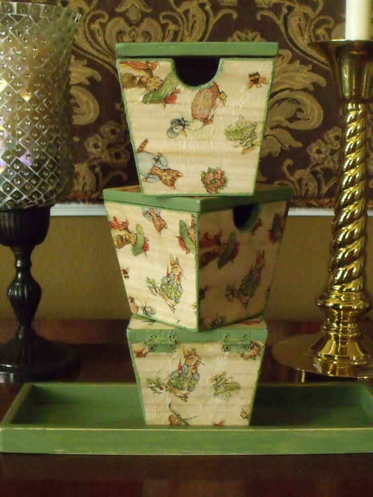 17 Best Images About Wood And Decoupage On Pinterest