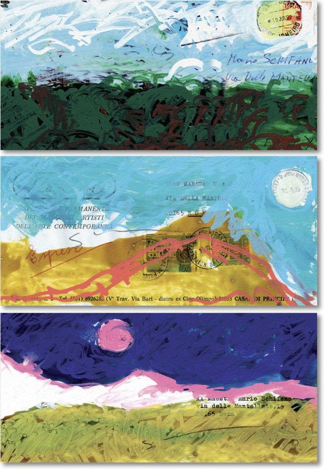 Mario Schifano | LA NUVOLA Corrispondenza Privata | 06 Dec 2012 - 31 Jan 2013 curated by Andrea Tugnoli #art #rome #exhibition