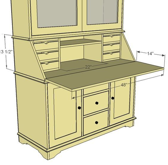Ana White | Build a Grant Secretary Hutch | Free and Easy DIY Project and Furniture Plans