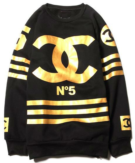 Black & Gold Homme Logo Zipper Sweatshirt from Thug Fashion on Storenvy