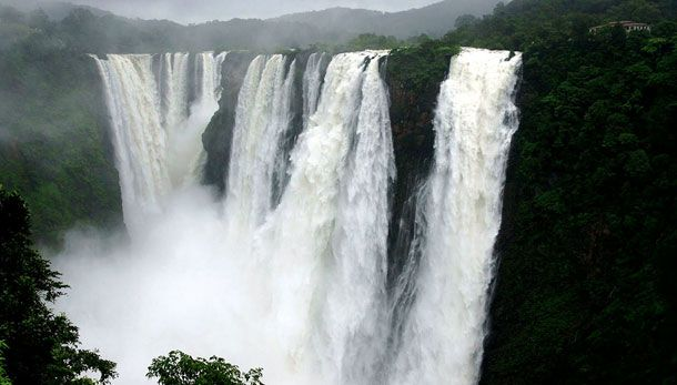 Jog Falls Wallpapers Desktop Nohsngithiang Falls Is Also Known As The Seven Sisters