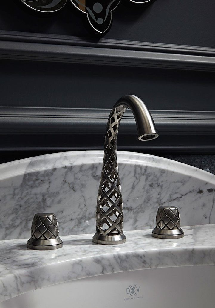 Stunning 3D-printed faucets from American Stand completely rethink how water flow. #3dprinting #design