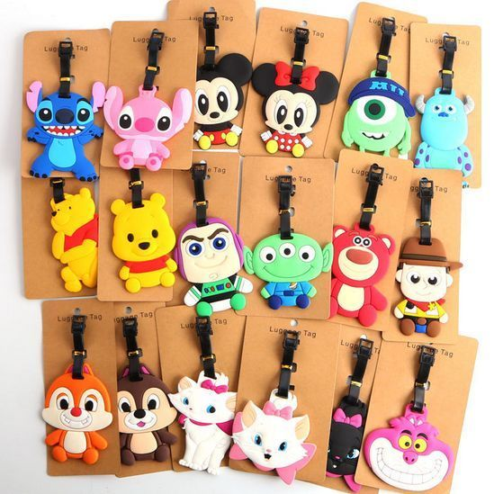 40 Styles New Disney Luggage Tags Travel Suitcase Baggage Card Holder Name Bags #Unbranded