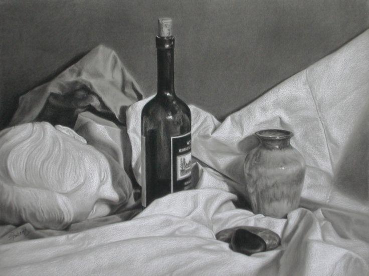 Charcoal Still Life Drawings Charcoal Still Life 14111058 El Dibujo Con Carboncillo