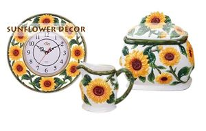 strawberry kitchen decorations | home decor has a fine selection of sunflower style decor at some ...