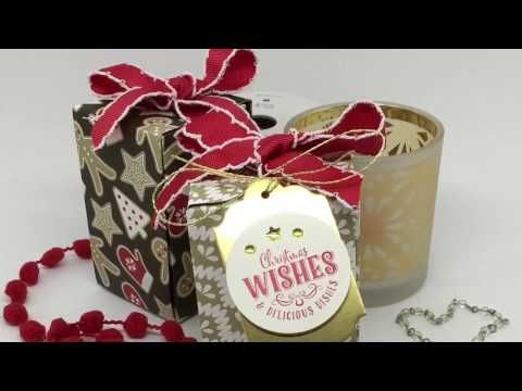 """23"" Sleeps Till Christmas – Happy Tea Box wit Stampin' Up! Candy Cane Suite – CLEVERPACKS by Keila Calver"