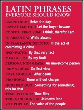 Latin phrases you should know - The Plain Language Programme